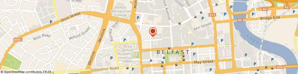 Route/map/directions to Kevin McCorry Solicitors, BT1 6EA Belfast, 31A Queen St