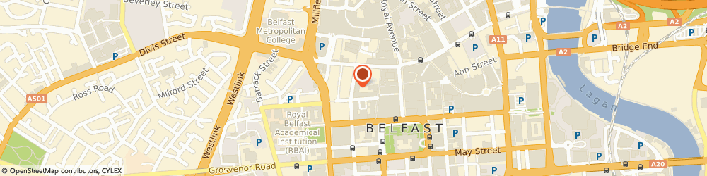 Route/map/directions to Essential Hairdressing, BT1 6EE Belfast, 16-18 Queen Street