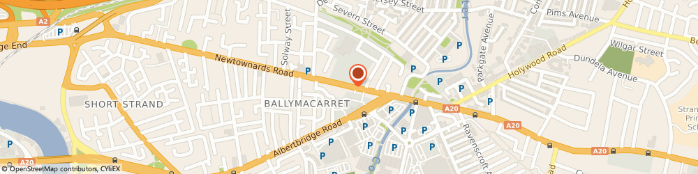 Route/map/directions to Dr a Cassidy, BT4 1AB Belfast, BRYSON STREET SURGERY, 115 NEWTOWNARDS ROAD