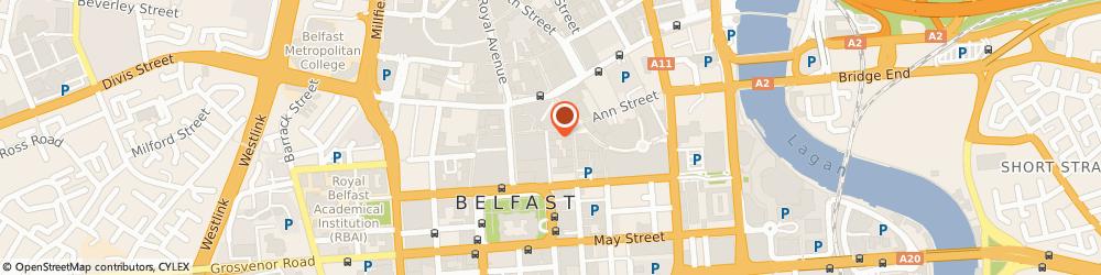 Route/map/directions to Bradbury Gallery, BT1 5BN Belfast, 4 Callender St