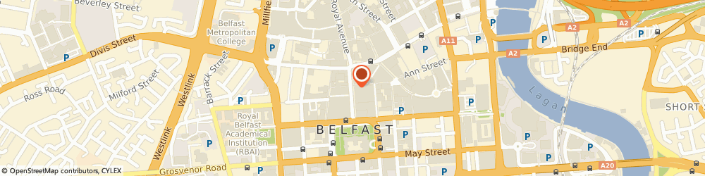 Route/map/directions to River Island - Belfast, BT1 5BB Belfast, 36-38 Donegall Place
