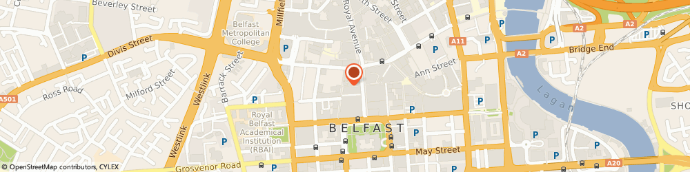 Route/map/directions to Michele (N.i) Ltd, BT1 5FB Belfast, 7 Fountain Lane