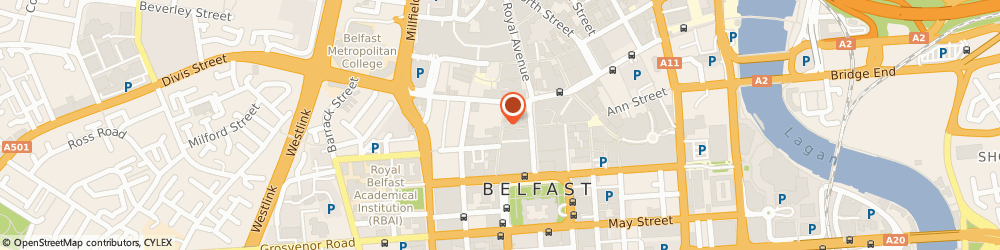 Route/map/directions to Belfast Regeneration Office, BT1 5EE Belfast, 42 FOUNTAIN STREET