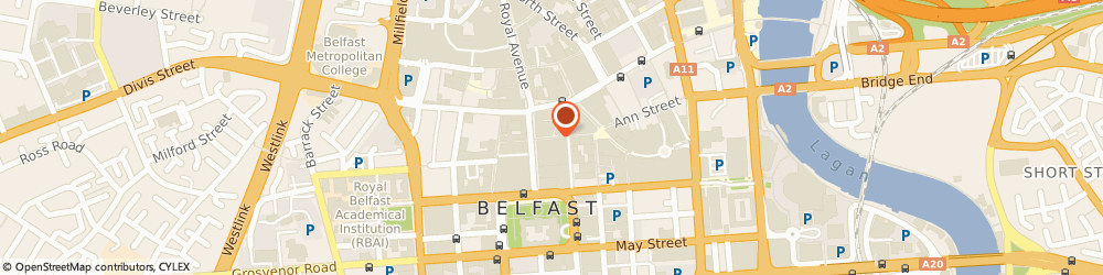 Route/map/directions to Social Security Agency, BT1 1DF Belfast, ROYAL AVENUE, CASTLE COURT
