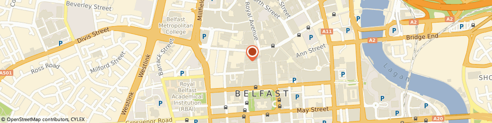 Route/map/directions to The Fountain Tavern, BT1 5ED Belfast, 16 Fountain St