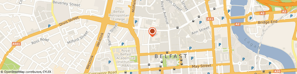Route/map/directions to Botanic Leisure Limited, BT1 6EA Belfast, 17-19 QUEEN STREET