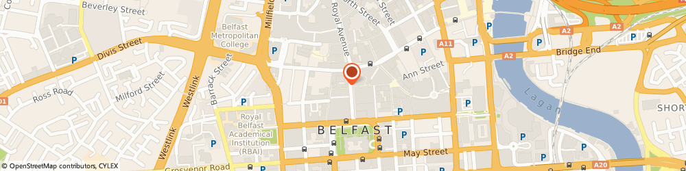Route/map/directions to Michele International Hair & Beauty, BT1 5FB Belfast, 7, Fountain Lane
