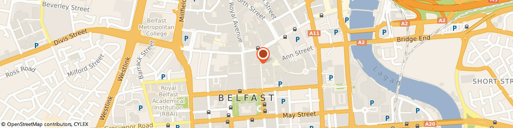 Route/map/directions to Lifestyle Sports, BT1 5DB Belfast, 18-20 CASTLE LANE