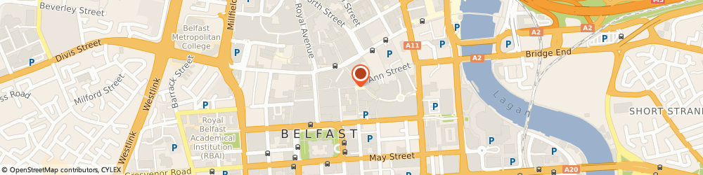 Route/map/directions to Black Panther Kissograms, BT1 5DA Belfast, 1, Castle Lane