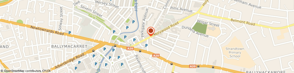Route/map/directions to Miro Hair, BT4 1NT Belfast, 78 Holywood Rd