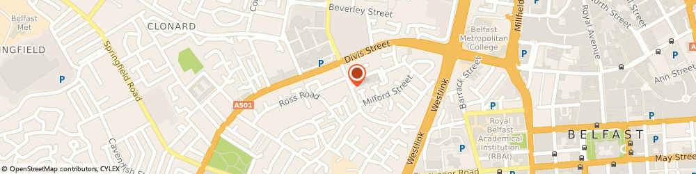 Route/map/directions to The Maureen Sheehan Centre, BT12 4HL Belfast, 106 Albert Street