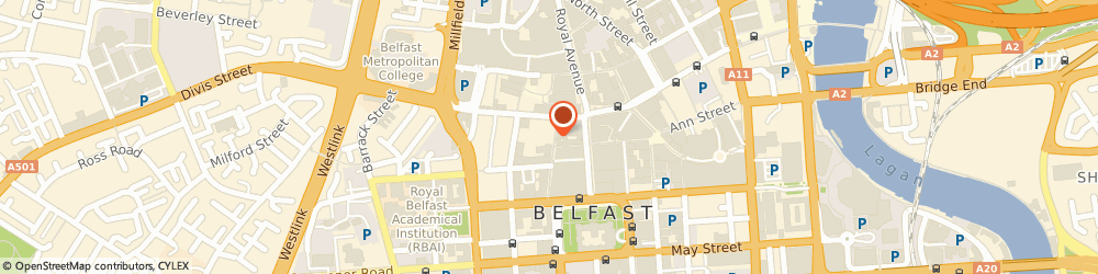 Route/map/directions to Stiletto Alternative Clothing, BT1 5EA Belfast, 17 Fountain Street