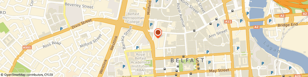 Route/map/directions to Able Taxis, BT1 6AD Belfast, 40 King St