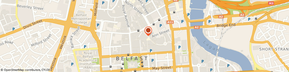 Route/map/directions to Petticrew Optometrists, BT1 4DB Belfast, 1st Floor, Holbeck House, Cornmarket