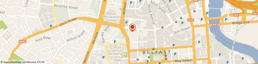 Route/map/directions to Fresh Claim Photography & Cafe, BT1 6AD Belfast, 48 King Street