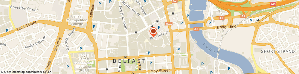 Route/map/directions to Love & Death Inc, BT1 4EF Belfast, 10A, Ann St