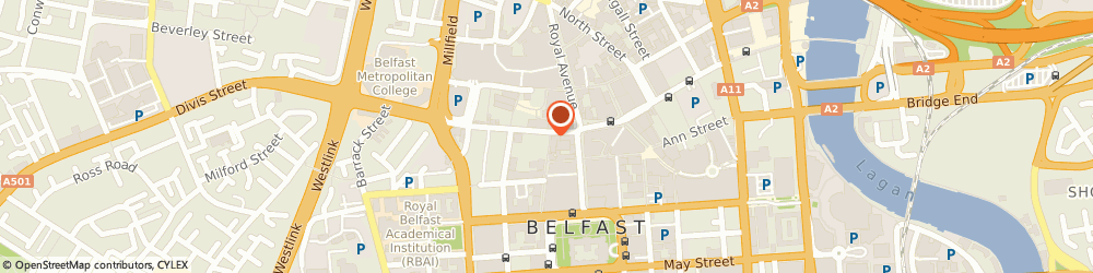 Route/map/directions to British Heart Foundation, BT1 1HB Belfast, 24 Castle Street