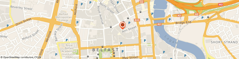 Route/map/directions to Morgan Transport & Distribution Ltd, BT1 4GA Belfast, Pkf-Fpm Accountants Ltd, 1-3 Arthur Street