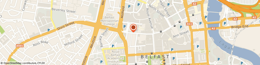 Route/map/directions to G S Trading, BT1 1GJ Belfast, 85-87 CASTLE ST