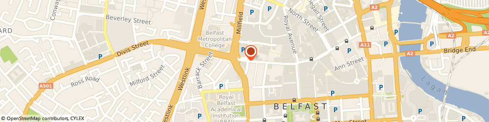 Route/map/directions to Hair Traffic Academy, BT1 1GH Belfast, 29-31 Castle Street