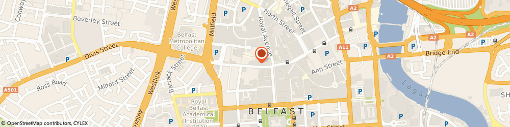 Route/map/directions to Beauty By Design, BT1 1GH Belfast, 57a Castle St