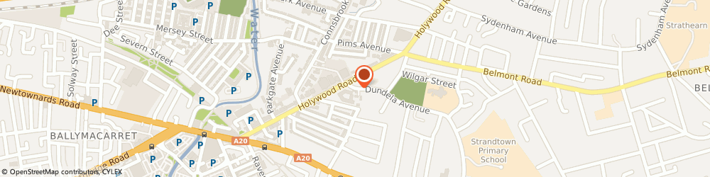 Route/map/directions to Strandtown Police Station, BT4 3BQ Belfast, 1-5 Dundela Avenue