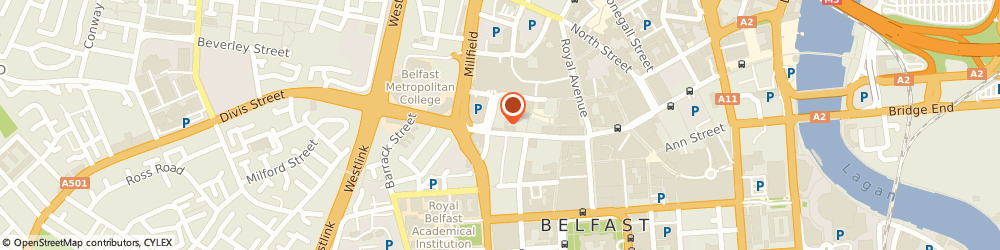 Route/map/directions to Ram Alley, BT1 1JJ Belfast, 5 Marquis St