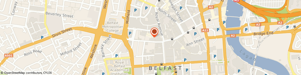 Route/map/directions to Kellys Cellars, BT1 1HL Belfast, 30-32 Bank St