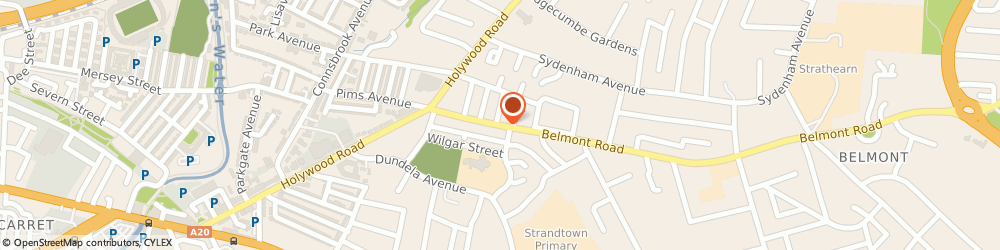 Route/map/directions to DBG Software Ltd, BT4 2AA Belfast, 73A BELMONT ROAD