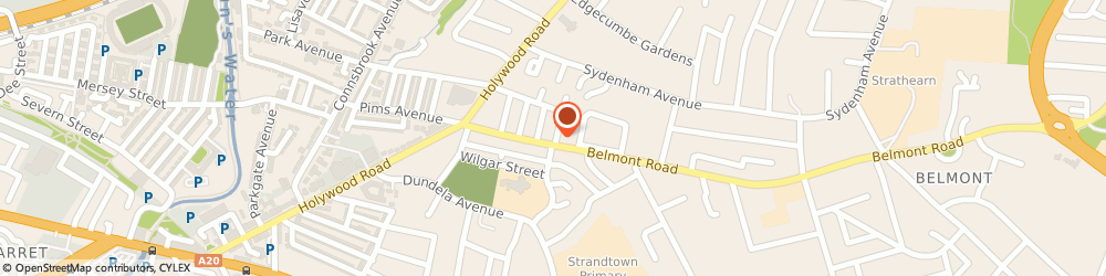 Route/map/directions to Am Property Management, BT4 2AN Belfast, 54 Belmont Road