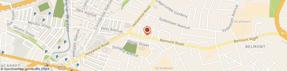Route/map/directions to CIP Insurance Brokers, BT4 2AN Belfast, 32 Belmont Rd