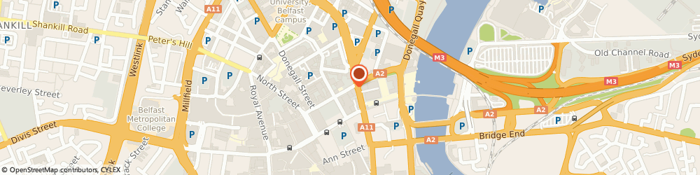Route/map/directions to Taps 2 Winebar, BT1 2ED Belfast, Cotton Court, 42 Waring Street