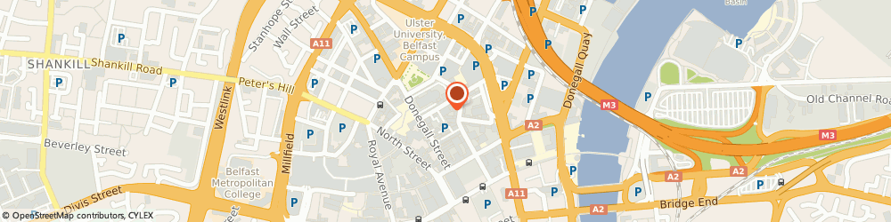 Route/map/directions to NOR-CHEM EUROPE Ltd, BT1 2LD Belfast, 25 Talbot Street Cathedral Quarter