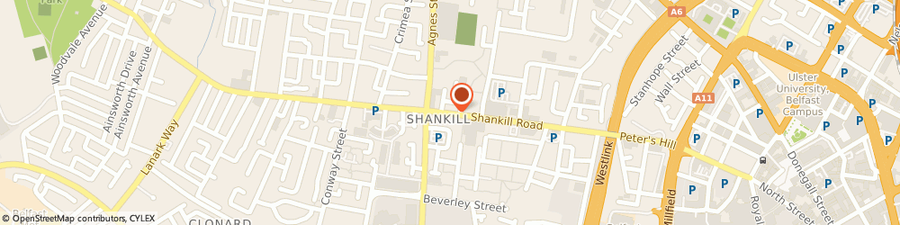 Route/map/directions to Smart Whole, BT13 1FD Belfast, 127 Shankill Road