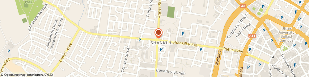 Route/map/directions to T Hamilton, BT13 1FP Belfast, 169 Shankill Rd