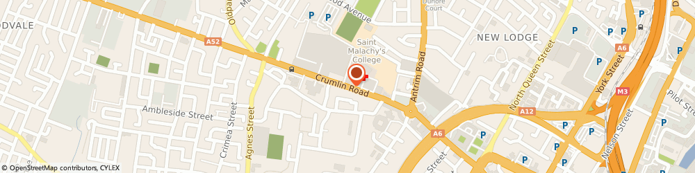 Route/map/directions to Crumlin Road Gaol Ltd, BT14 6ST Belfast, 53-55 Crumlin Rd