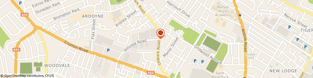 Route/map/directions to Property Clearance & Maintenance, BT14 7BT Belfast, 1-7 Hillview Rd