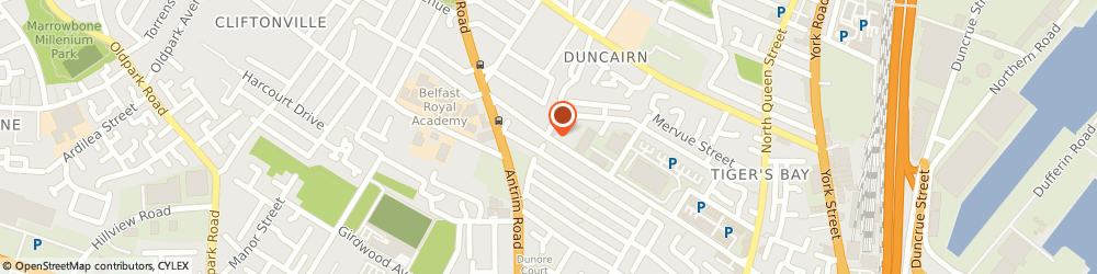 Route/map/directions to The Trophy Room, BT15 2GN Belfast, 204 Duncairn Gardens