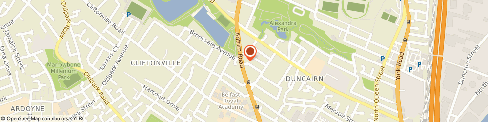 Route/map/directions to PIPS Charity, BT15 2HE Belfast, 281 Antrim Rd