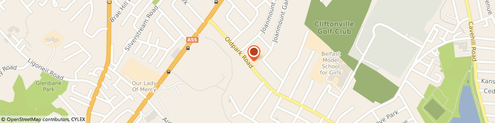 Route/map/directions to Grate Restorations, BT14 6QX Belfast, 635 Oldpark Road