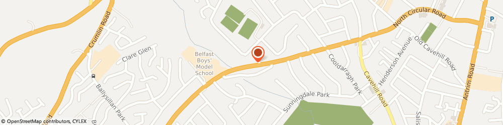 Route/map/directions to W J M Building Services Ltd, BT14 6RN Belfast, 574-576 Ballysillan Road