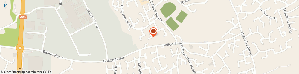 Route/map/directions to Sigma Kalon, BT19 7QY Bangor, 64 BALLOO DRIVE
