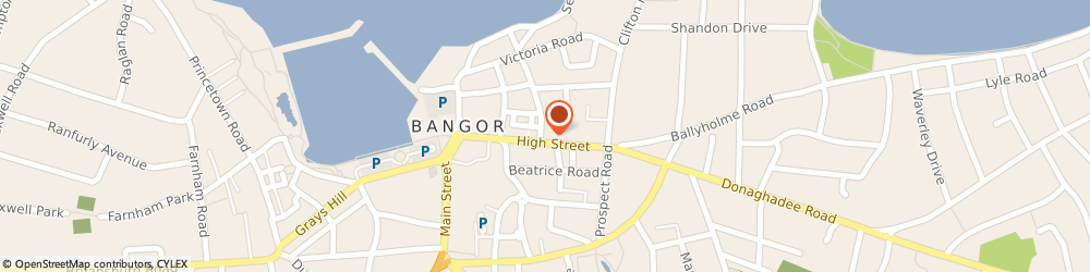 Route/map/directions to Faith Mission Bookshop Bangor, BT20 5BD Bangor, 73 HIGH STREET