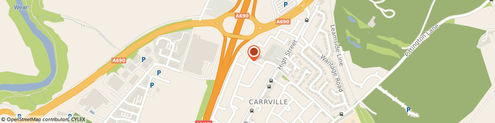Route/map/directions to THE DESIGN HUB LTD, DH1 1AQ Durham, 61 Grange Road