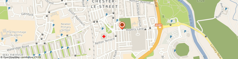 Route/map/directions to Alan Lam Dental Practice, DH3 3PQ Chester Le Street, 6 Weardale Terrace, Ropery Lane
