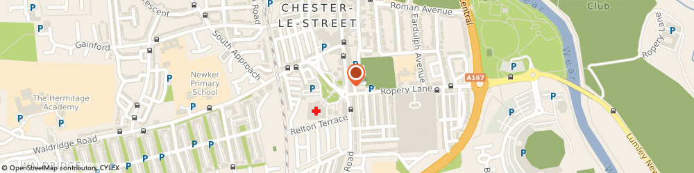 Route/map/directions to Ashfield Dental Care, DH3 3PD Chester Le Street, 4 Ashfield Terrace