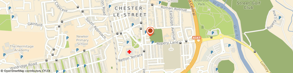 Route/map/directions to Protec-Systems, DH3 3PE Chester Le Street, 11 Hawthorn Terrace