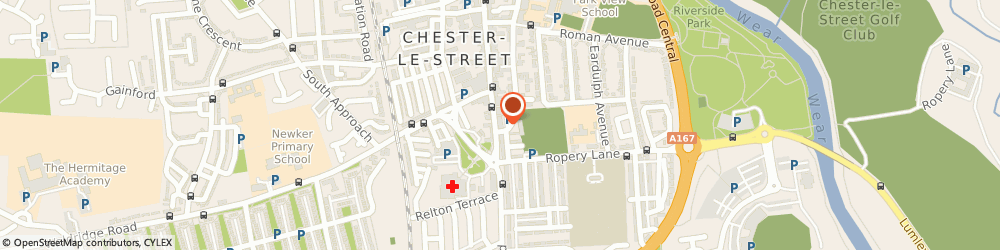 Route/map/directions to The High Crown, DH3 3AZ Chester Le Street, 184a Front Street