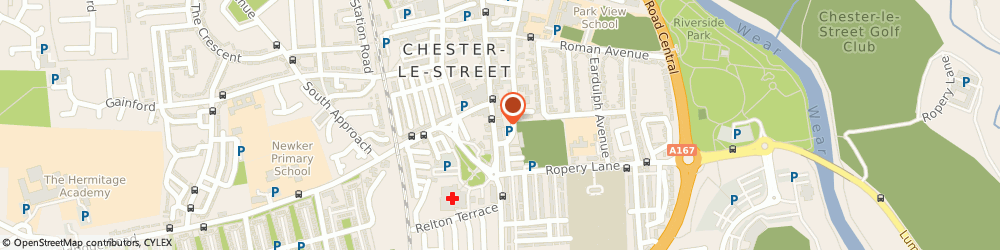 Route/map/directions to Leaf Hairdressing, DH3 3AZ Chester Le Street, 182, Front St