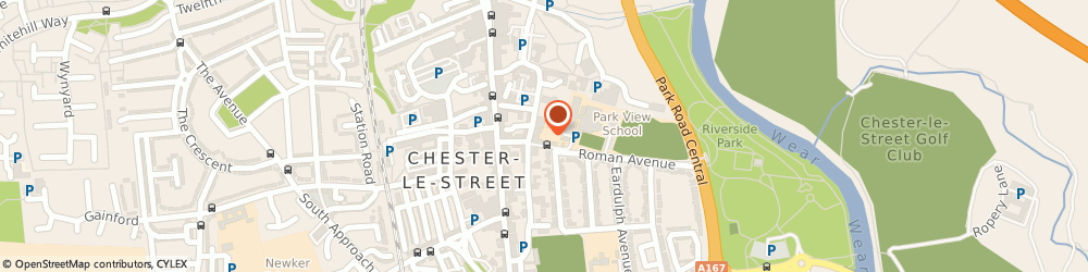 Route/map/directions to Park View Academy, DH3 3QA Chester Le Street, PARK VIEW SCHOOL, CHURCH CHARE